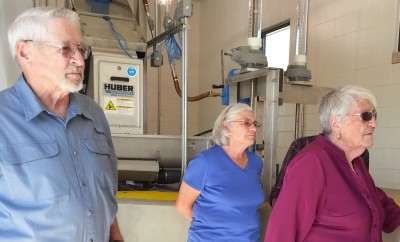 Trustees tour new Riverbend Park wastewater lift station.