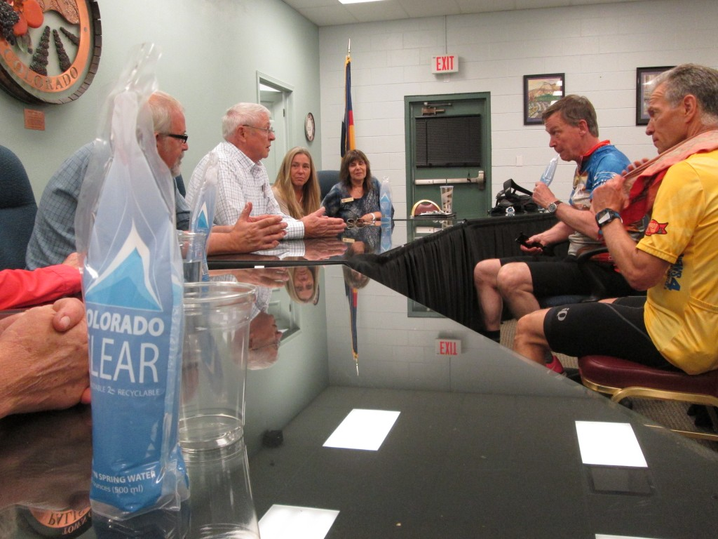 GOV. JOHN HICKENLOOPER DRINKS PALISADE'S COLORADO CLEAR BOTTLED WATER, 5-15-16