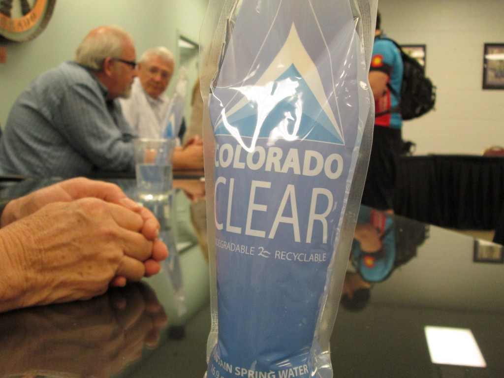 PALISADE'S COLORADO CLEAR BOTTLED WATER AVAILABLE AT MEETING WITH GOV. JOHN HICKENLOOPER, 5-15-16