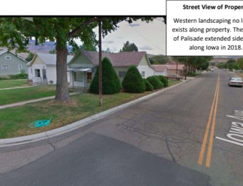 Encroaching sidewalks encourage a variance